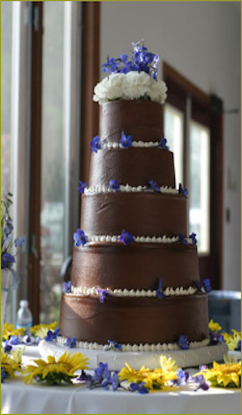 four tiered chocolate cake